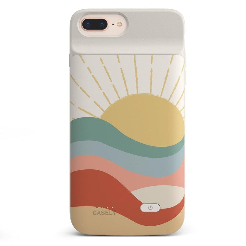Here Comes the Sun | Colorblock Sunset Case iPhone Case get.casely Power 2.0 iPhone 8 Plus