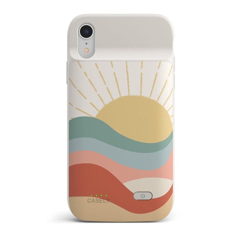 Here Comes the Sun | Colorblock Sunset Case iPhone Case get.casely Power 2.0 iPhone XR