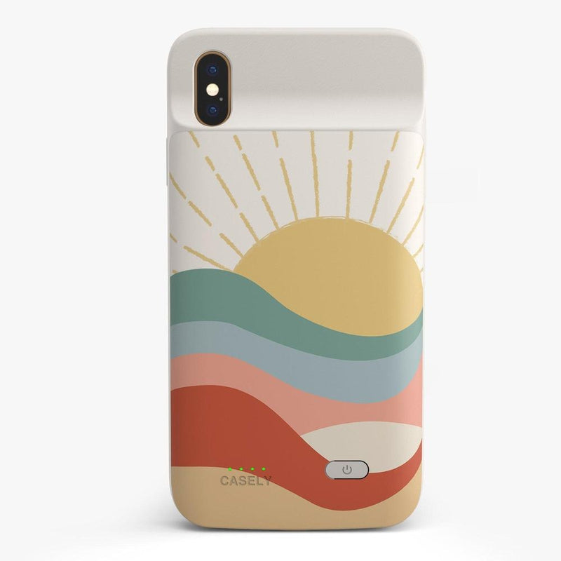 Here Comes the Sun | Colorblock Sunset Case iPhone Case get.casely Power 2.0 iPhone XS Max