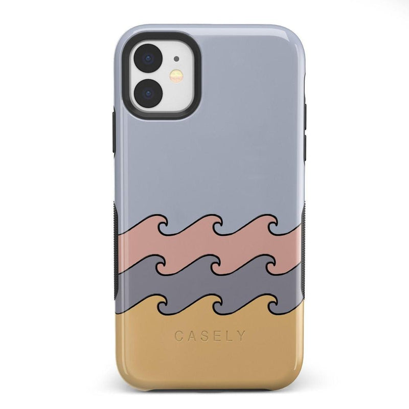 High Tide Layered Ocean Waves Case iPhone Case get.casely Bold iPhone 11
