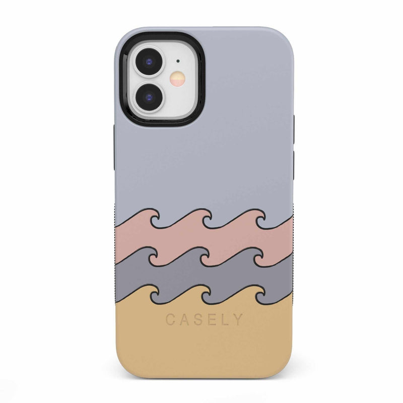 High Tide Layered Ocean Waves Case iPhone Case get.casely Bold iPhone 12 Mini