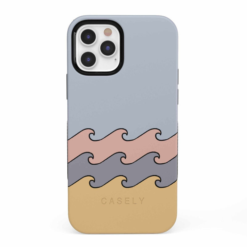 High Tide Layered Ocean Waves Case iPhone Case get.casely Bold iPhone 12 Pro