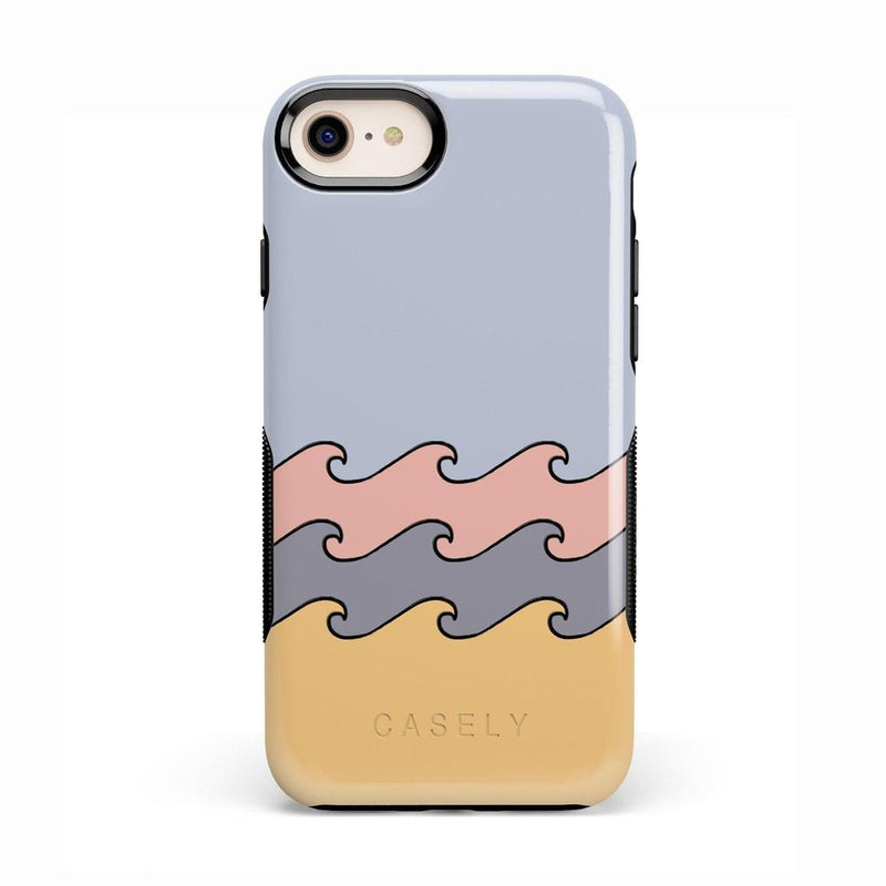 High Tide Layered Ocean Waves Case iPhone Case get.casely Bold iPhone 8