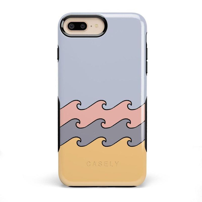 High Tide Layered Ocean Waves Case iPhone Case get.casely Bold iPhone 8 Plus