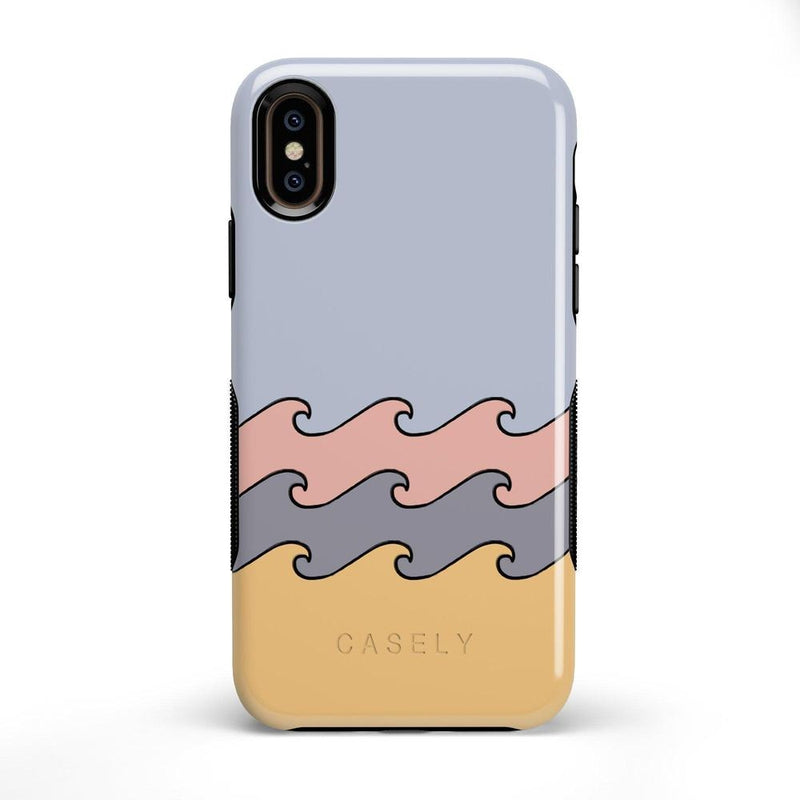 High Tide Layered Ocean Waves Case iPhone Case get.casely Bold iPhone X / XS