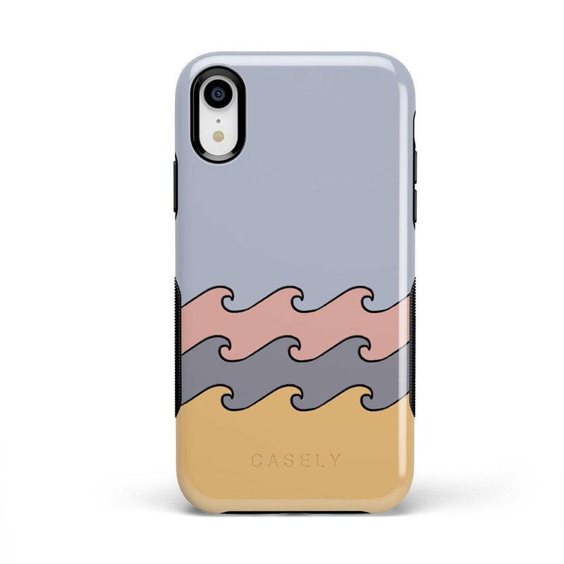 High Tide Layered Ocean Waves Case iPhone Case get.casely Bold iPhone XR