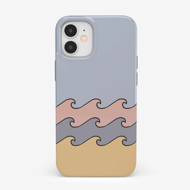 High Tide Layered Ocean Waves Case iPhone Case get.casely Classic iPhone 12 Mini