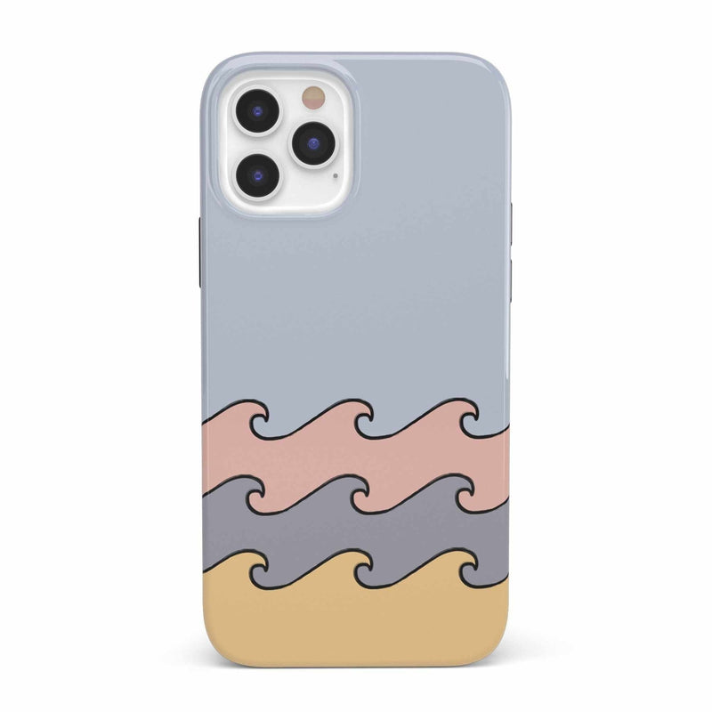 High Tide Layered Ocean Waves Case iPhone Case get.casely Classic iPhone 12 Pro