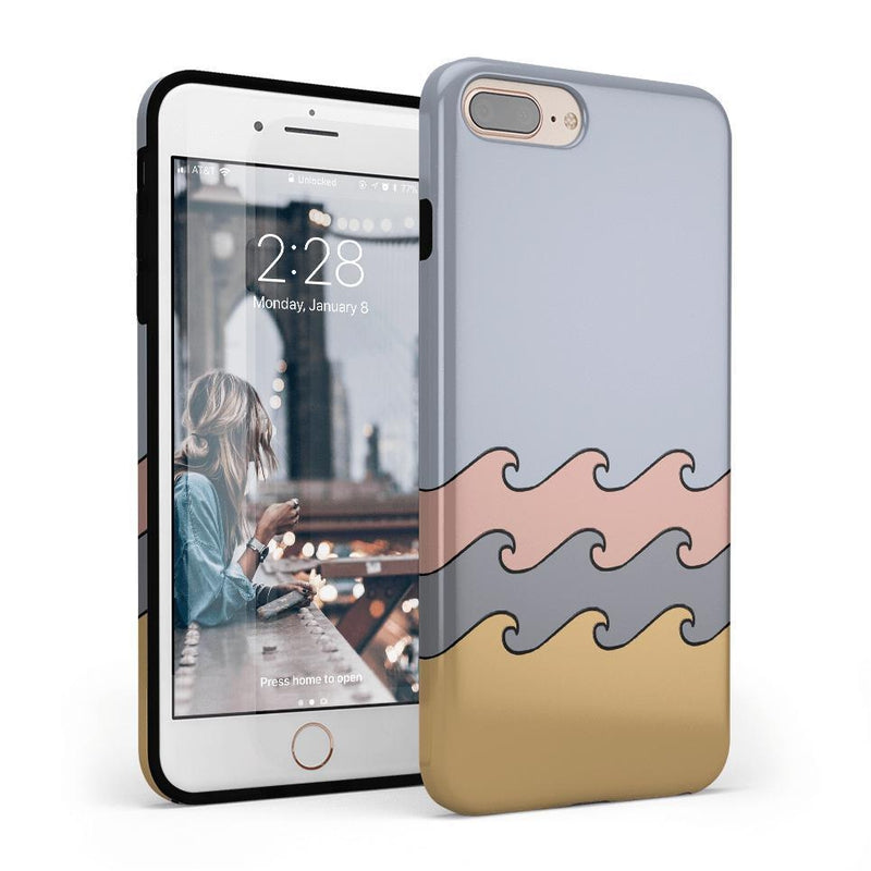 High Tide Layered Ocean Waves Case iPhone Case get.casely Classic iPhone 8 Plus