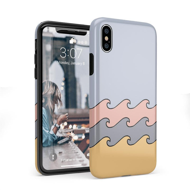 High Tide Layered Ocean Waves Case iPhone Case get.casely Classic iPhone X / XS