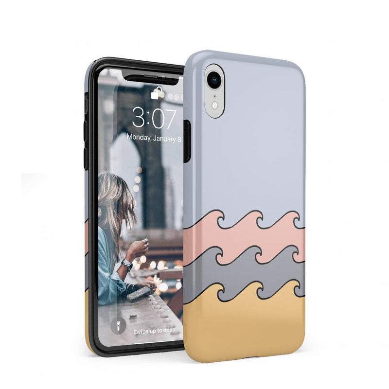 High Tide Layered Ocean Waves Case iPhone Case get.casely Classic iPhone XR