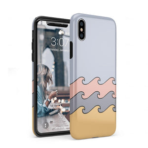 High Tide Layered Ocean Waves Case iPhone Case get.casely Classic iPhone XS Max