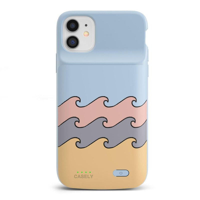 High Tide Layered Ocean Waves Case iPhone Case get.casely Power 2.0 iPhone 11