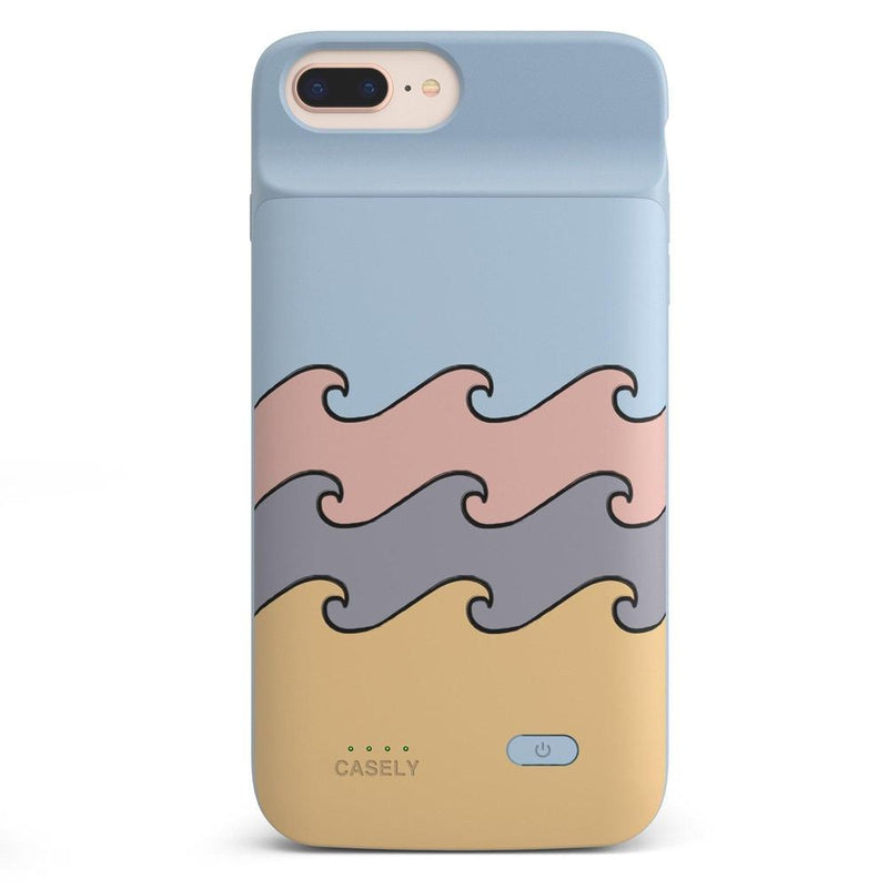 High Tide Layered Ocean Waves Case iPhone Case get.casely Power 2.0 iPhone 8 Plus