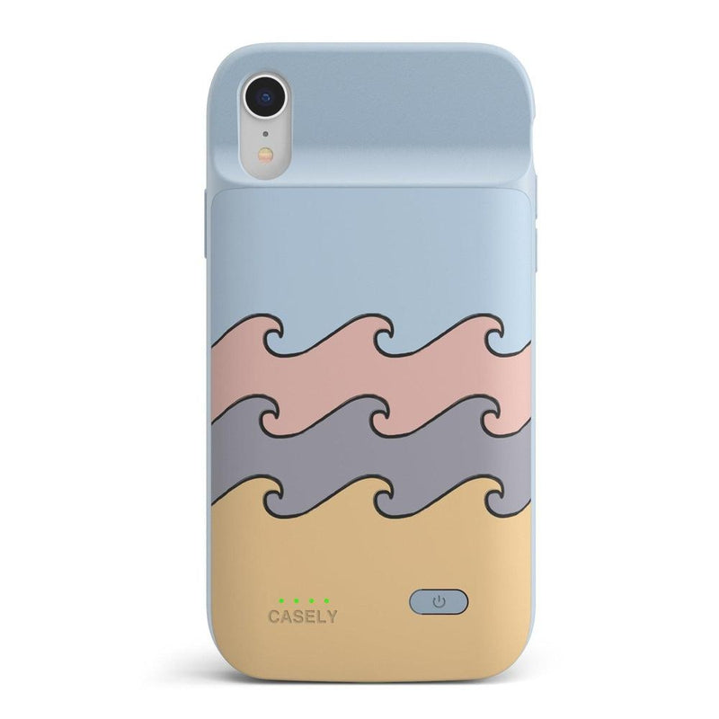 High Tide Layered Ocean Waves Case iPhone Case get.casely Power 2.0 iPhone XR