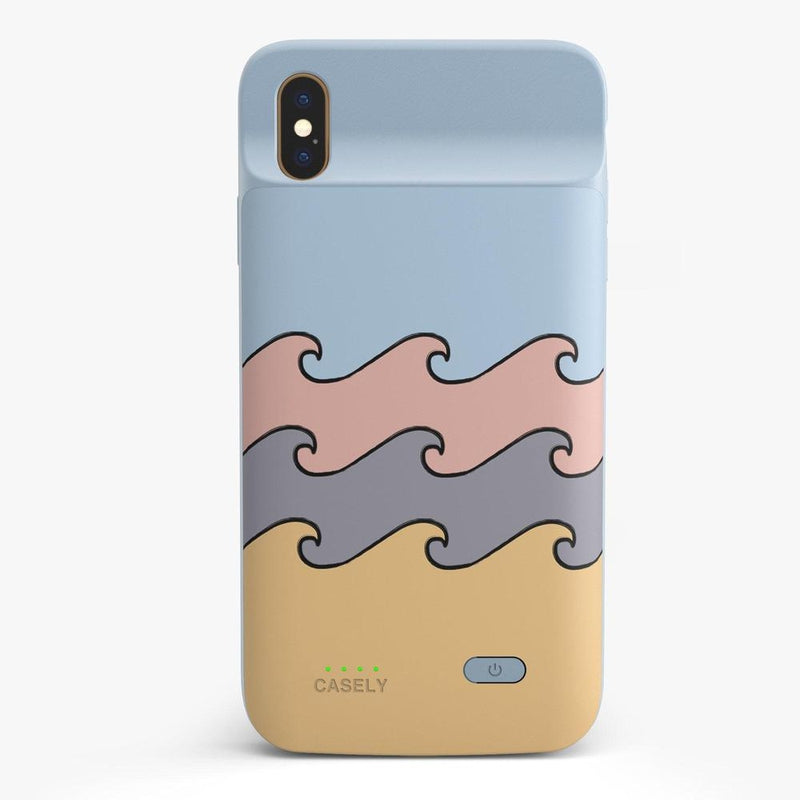 High Tide Layered Ocean Waves Case iPhone Case get.casely Power 2.0 iPhone XS Max