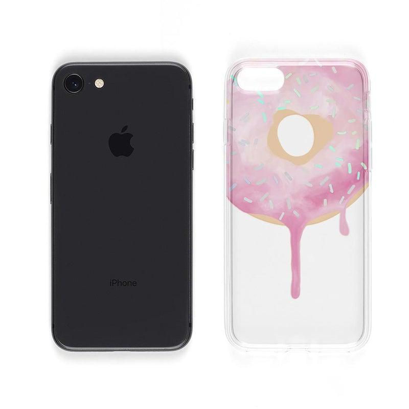Holographic Donut Clear Case iPhone Case Get.Casely