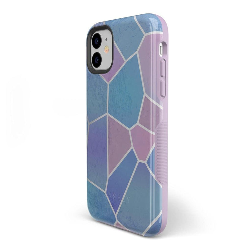 Holographic Metallic Stained Glass Marble Case iPhone Case Get.Casely