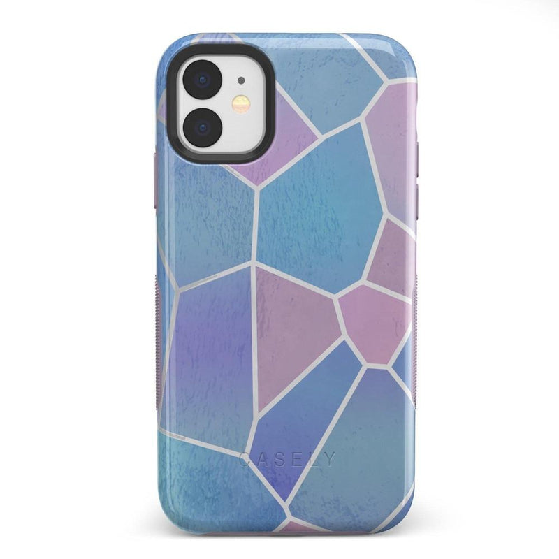 Holographic Metallic Stained Glass Marble Case iPhone Case Get.Casely Bold iPhone 11