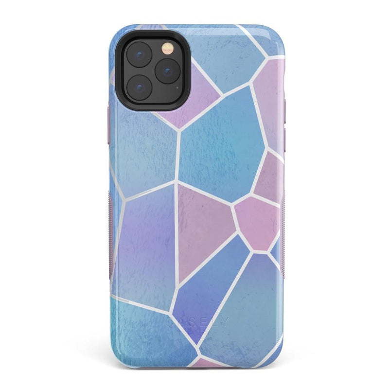 Holographic Metallic Stained Glass Marble Case iPhone Case Get.Casely Bold iPhone 11 Pro
