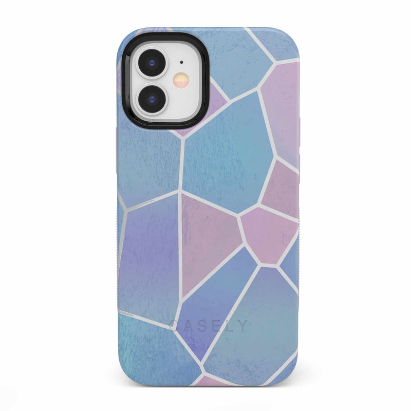 Holographic Metallic Stained Glass Marble Case iPhone Case get.casely Bold iPhone 12 Mini