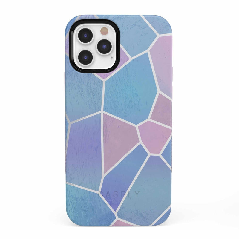 Holographic Metallic Stained Glass Marble Case iPhone Case get.casely Bold iPhone 12 Pro
