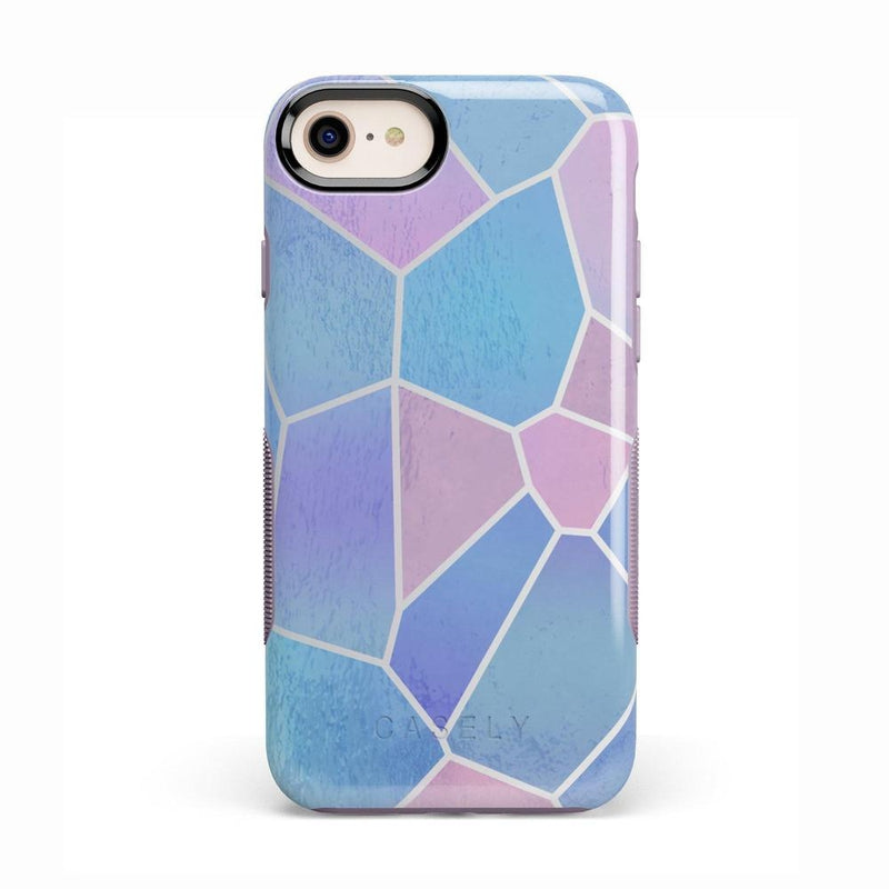Holographic Metallic Stained Glass Marble Case iPhone Case Get.Casely Bold iPhone 8