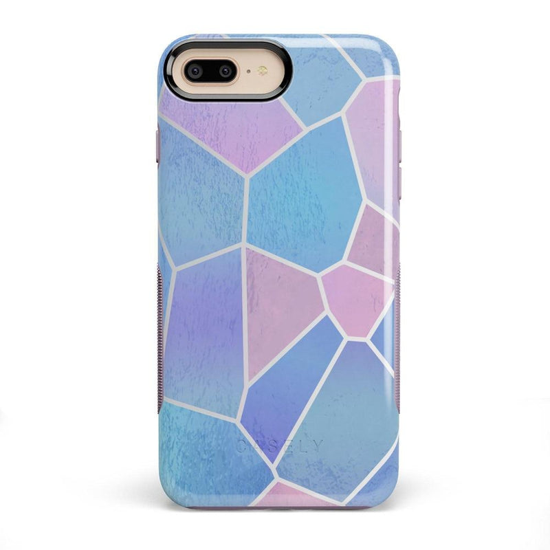 Holographic Metallic Stained Glass Marble Case iPhone Case Get.Casely Bold iPhone 8 Plus