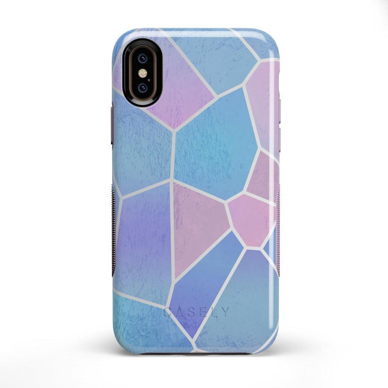 Holographic Metallic Stained Glass Marble Case iPhone Case Get.Casely Bold iPhone X / XS