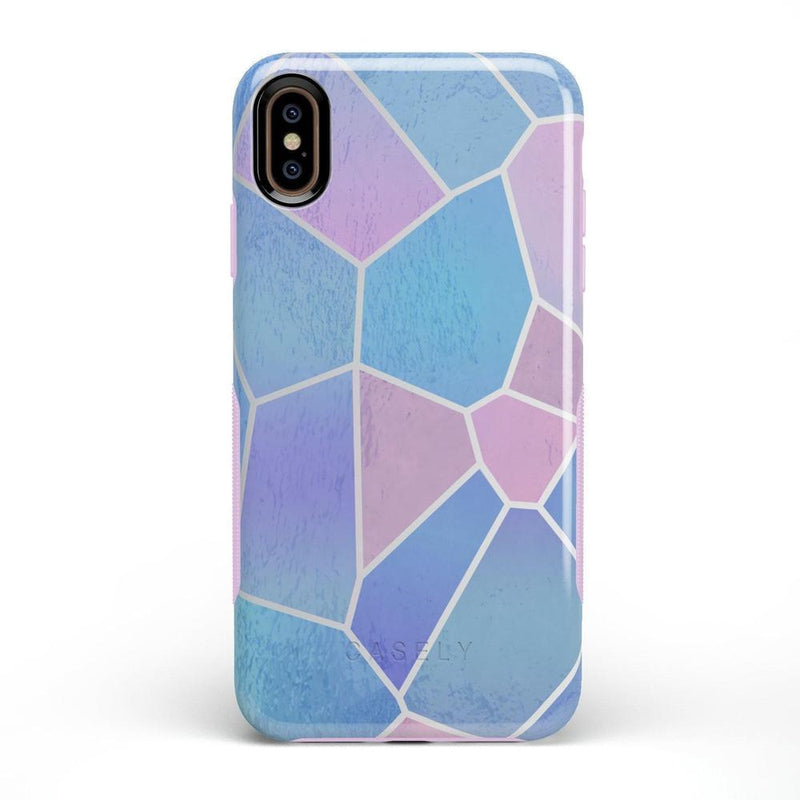 Holographic Metallic Stained Glass Marble Case iPhone Case Get.Casely Bold iPhone XS Max