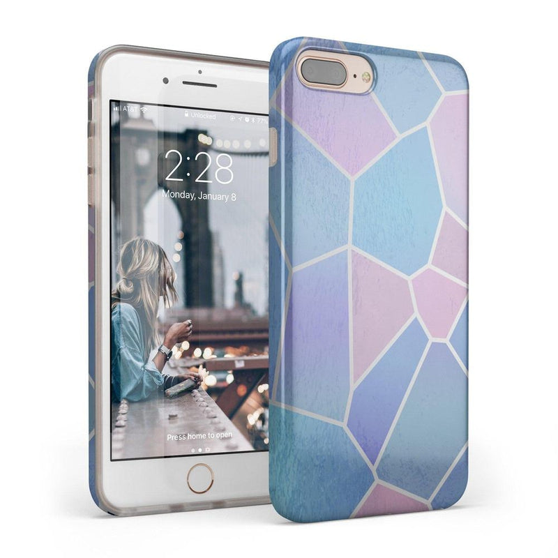 Holographic Metallic Stained Glass Marble Case iPhone Case Get.Casely Classic iPhone 6/6s Plus