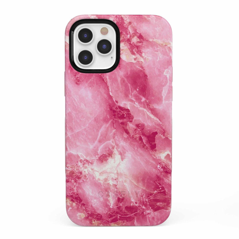 Hot Pink Marble Case iPhone Case get.casely Bold iPhone 12 Pro