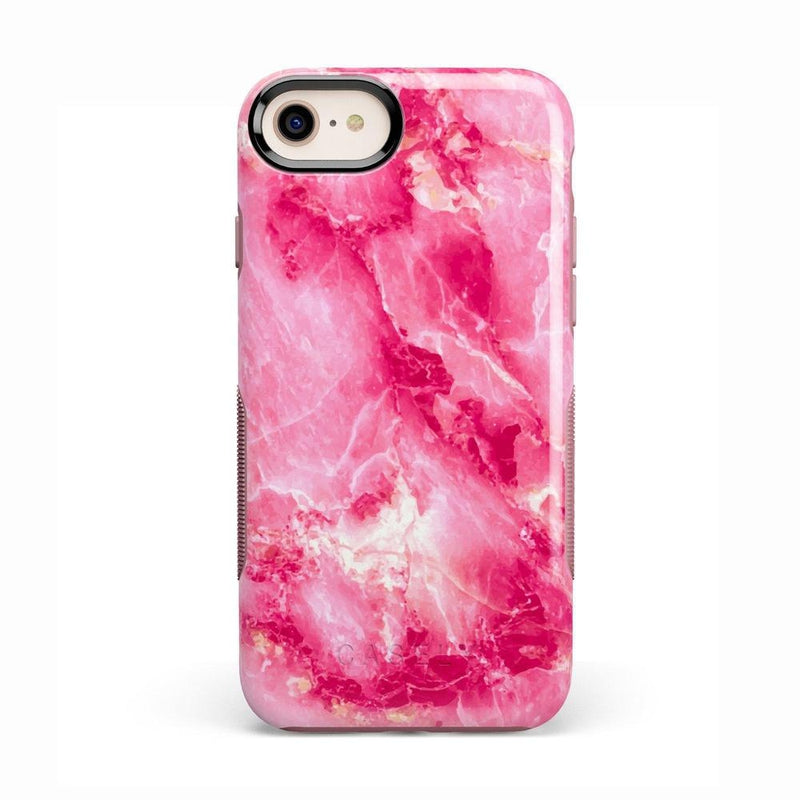 Hot Pink Marble Case iPhone Case Get.Casely Bold iPhone 8