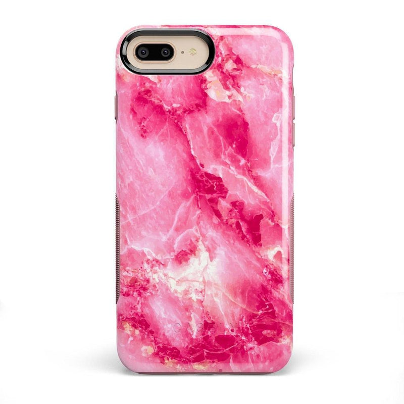 Hot Pink Marble Case iPhone Case Get.Casely Bold iPhone 8 Plus