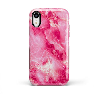 Hot Pink Marble Case iPhone Case Get.Casely Bold iPhone XR
