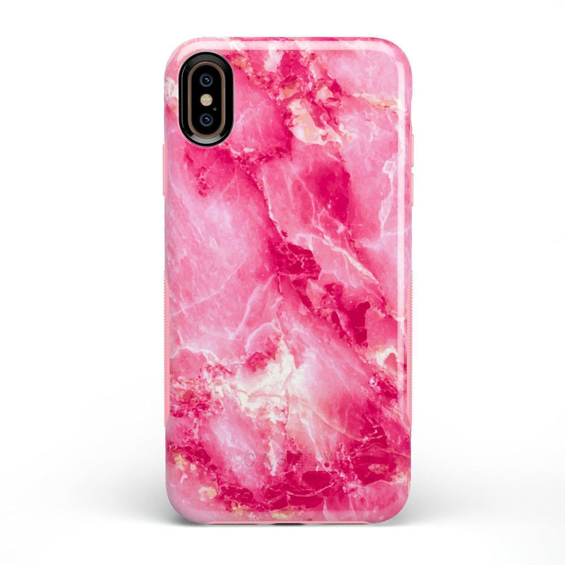 Hot Pink Marble Case iPhone Case Get.Casely Bold iPhone XS Max