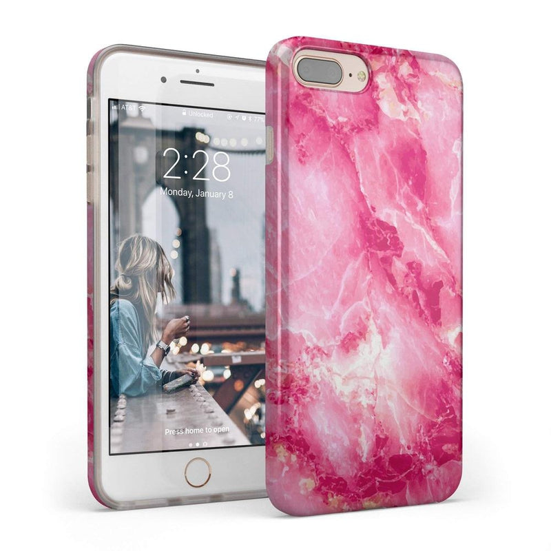 Hot Pink Marble Case iPhone Case Get.Casely Classic iPhone 6/6s Plus