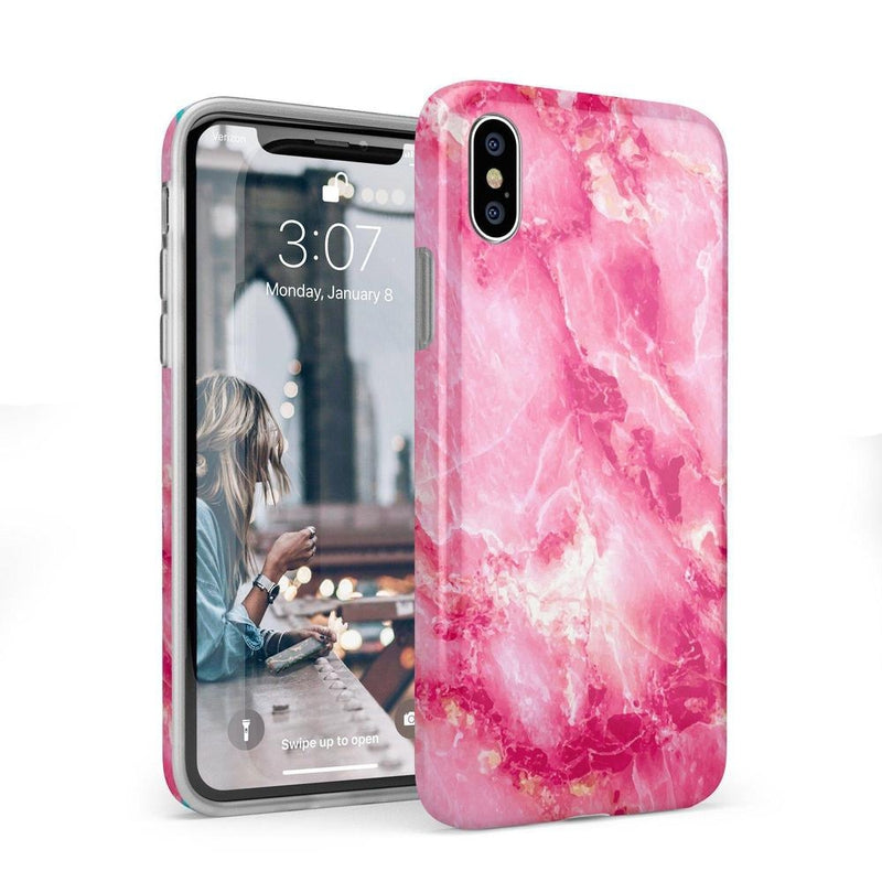 Hot Pink Marble Case iPhone Case Get.Casely Classic iPhone X / XS