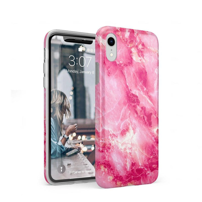 Hot Pink Marble Case iPhone Case Get.Casely Classic iPhone XR