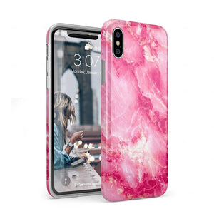 Hot Pink Marble Case iPhone Case Get.Casely Classic iPhone XS Max