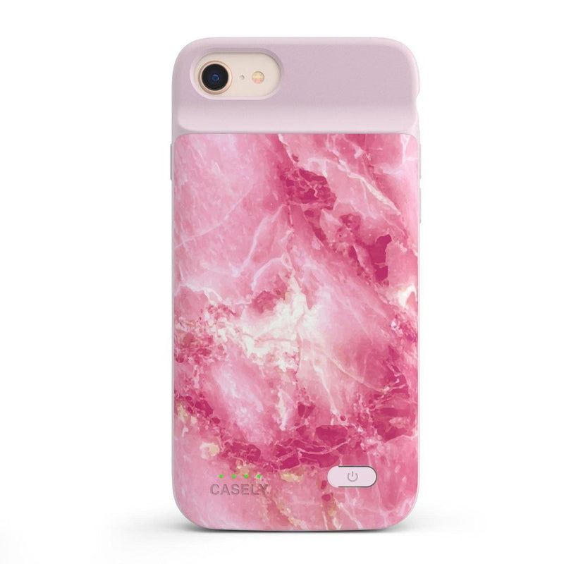 Hot Pink Marble Case iPhone Case get.casely Power 2.0 iPhone SE (2020)
