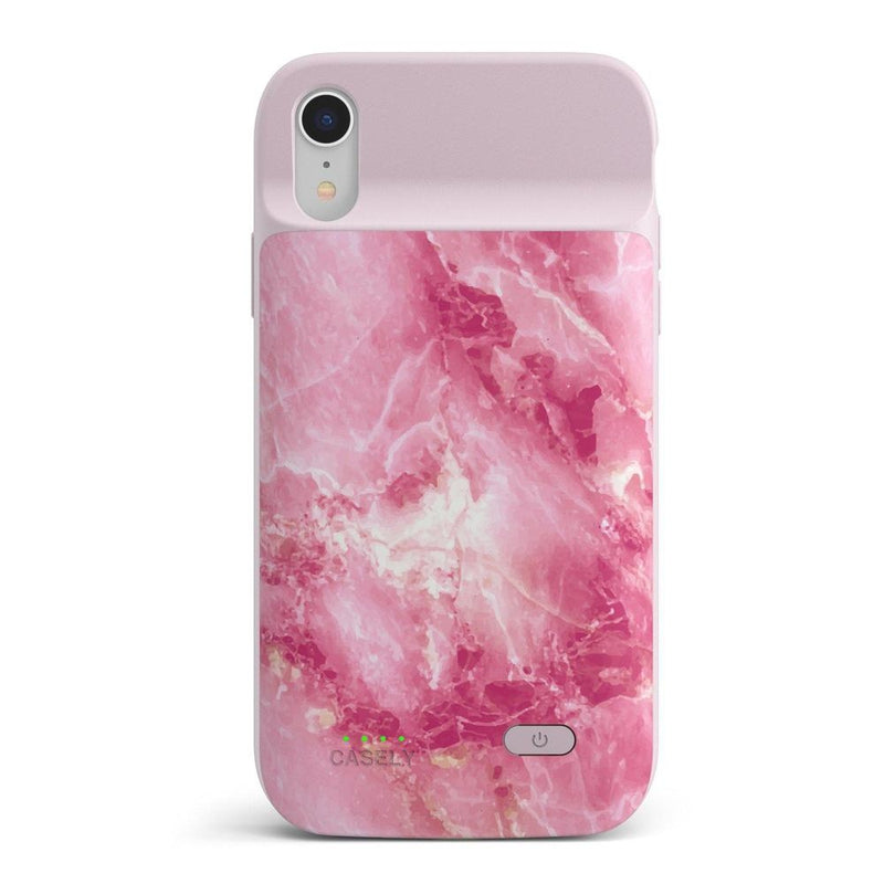 Hot Pink Marble Case iPhone Case get.casely Power 2.0 iPhone XR