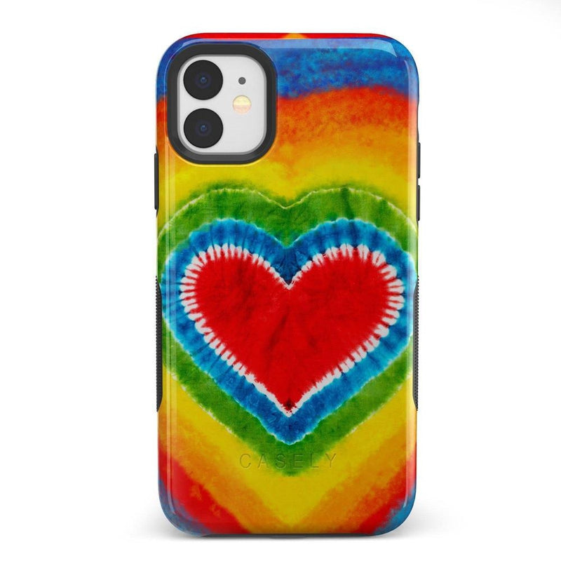 I Heart Tie Dye iPhone Case iPhone Case Get.Casely Bold iPhone 11