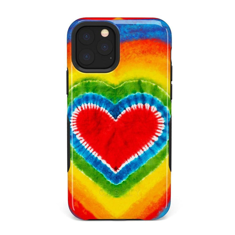 I Heart Tie Dye iPhone Case iPhone Case Get.Casely Bold iPhone 11 Pro