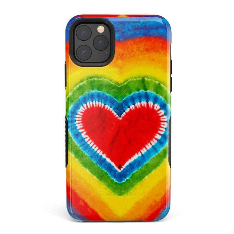 I Heart Tie Dye iPhone Case iPhone Case Get.Casely Bold iPhone 11 Pro Max