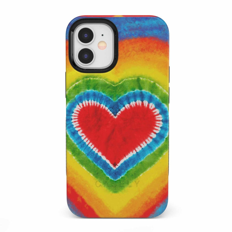 I Heart Tie Dye iPhone Case iPhone Case get.casely Bold iPhone 12 Mini