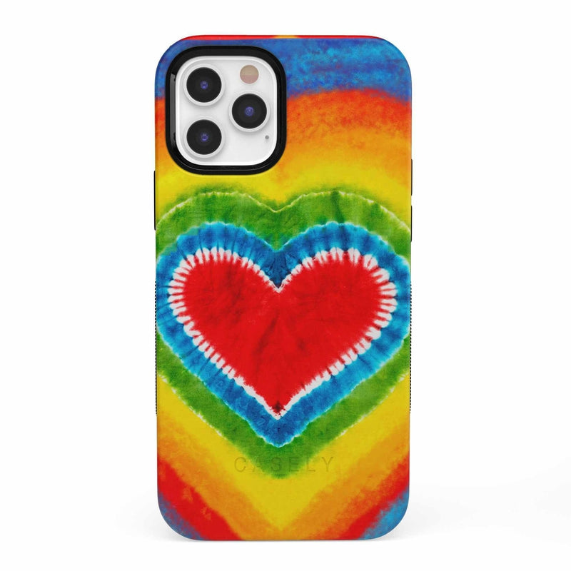 I Heart Tie Dye iPhone Case iPhone Case get.casely Bold iPhone 12 Pro