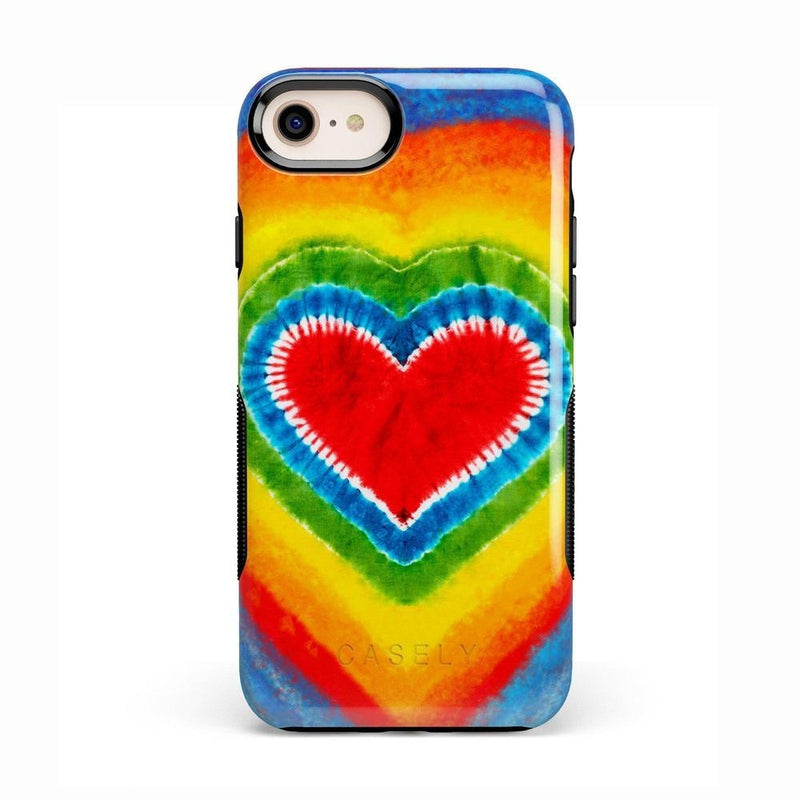 I Heart Tie Dye iPhone Case iPhone Case Get.Casely Bold iPhone 8
