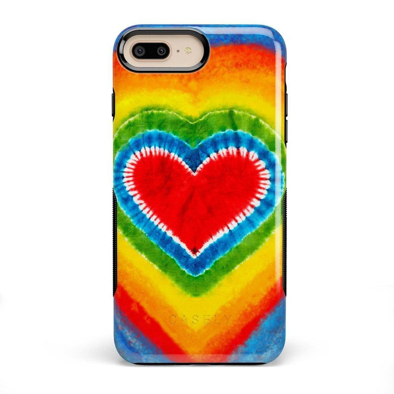 I Heart Tie Dye iPhone Case iPhone Case Get.Casely Bold iPhone 8 Plus