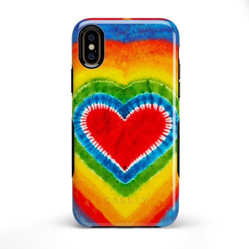 I Heart Tie Dye iPhone Case iPhone Case Get.Casely Bold iPhone X / XS
